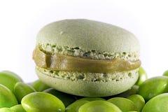 Macaron verde Fotografia Stock Libera da Diritti