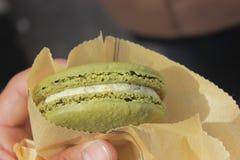 Macaron verde Fotos de Stock Royalty Free