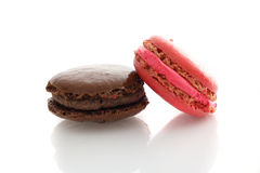 Macaron in white background Stock Images
