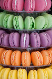 Macarones cookies of various colors Royalty Free Stock Photo