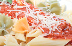 macaroni ντομάτα σάλτσας Στοκ φωτογραφίες με δικαίωμα ελεύθερης χρήσης
