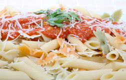 macaroni ντομάτα σάλτσας Στοκ Φωτογραφίες