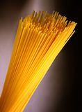 Macaroni. Close-up yellow spaghetti texture Stock Photography
