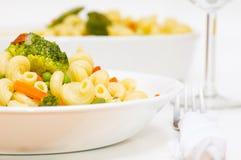 Macaroni. Full plate of macaroni with vegetable Royalty Free Stock Image