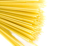 Dry Spaghetti. Some yellow spaghetti isolated on white Royalty Free Stock Photo