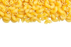 Macaroni angle pasta on white background royalty free stock photo