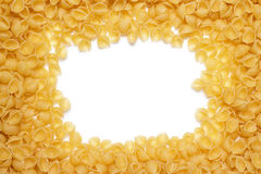 Macaroni background with copy space in the middle Stock Photo