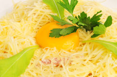 Macaroni baked with fish Stock Images
