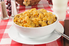 Macaroni, beef and cheese casserole Stock Image