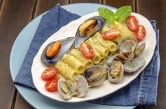 Macaroni carbonara Royalty Free Stock Images