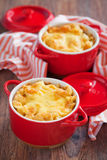 Macaroni and cheese. Baked Macaroni and Cheese Casserole, selective focus Stock Images