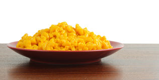 Macaroni and Cheese. On a plate Royalty Free Stock Photos