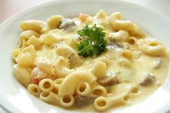 Macaroni and cheese Royalty Free Stock Photography