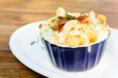 Macaroni cheese and bacon Royalty Free Stock Image