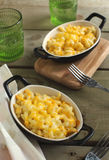 Macaroni and cheese in baking dish Stock Photo