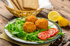 Macaroni and cheese balls Royalty Free Stock Image