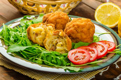 Macaroni and cheese balls Royalty Free Stock Photography
