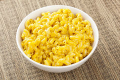 Macaroni and Cheese in a bowl Royalty Free Stock Images
