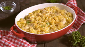 Macaroni with cheese, chicken stock video