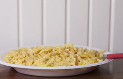 Macaroni and Cheese. Close up of a large plate of baked macaroni and cheese Royalty Free Stock Photos