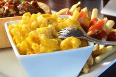 Macaroni and cheese closeup Royalty Free Stock Image
