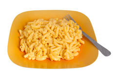 Macaroni and cheese dinner Royalty Free Stock Images