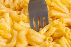 Macaroni and cheese dinner Stock Photos