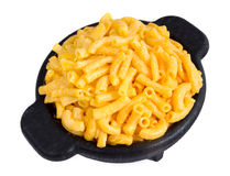 Macaroni and cheese dinner Royalty Free Stock Image