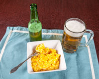 Macaroni and cheese lunch Stock Photography