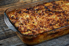 Macaroni with cheese, oven baked Royalty Free Stock Photography
