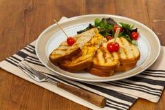 Macaroni and Cheese Sandwich Stock Photo