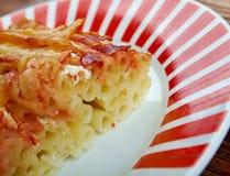 Macaroni with cheese. And tomato Royalty Free Stock Photos