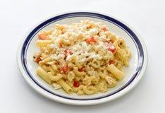 Macaroni in een plaat royalty-vrije stock fotografie