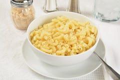 Macaroni en boter royalty-vrije stock fotografie