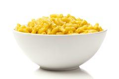 Macaroni en Kaas in een kom Stock Fotografie