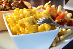Macaroni en Kaasclose-up Royalty-vrije Stock Afbeelding