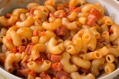 Macaroni en Tomatensaus royalty-vrije stock foto's