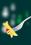 Macaroni on fork Royalty Free Stock Image