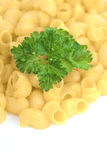 Macaroni and greens Royalty Free Stock Photo