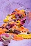Macaroni in het close-up van de glaskruik royalty-vrije stock afbeelding