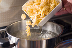 Macaroni italian food pasta. Cooking some of good pasta Stock Photography