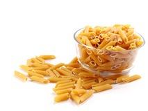 Macaroni italian pasta close up. On white background Stock Photography