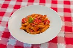Macaroni. Italian macaroni with tomato souce Stock Image