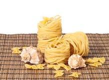 Macaroni on the mat Stock Image