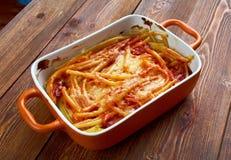 Macaroni med ost Fotografering för Bildbyråer