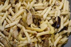 Macaroni met groenten Stock Fotografie
