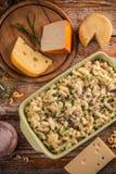 Macaroni met kaas royalty-vrije stock afbeeldingen