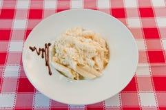 Macaroni met kaas Royalty-vrije Stock Foto