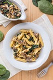 Macaroni and mushrooms Stock Photography