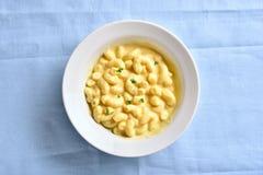Macaroni och ost arkivfoton